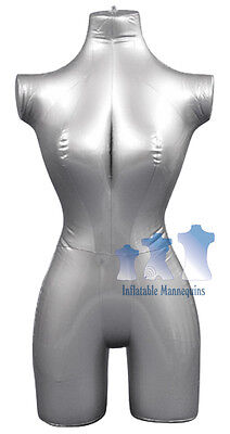 Inflatable Mannequin Female 34 Form Silver