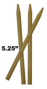 100 ct Candy Apple/Corn Dog Sticks Semi-Pointed Wood Skewers Dowels 5.25