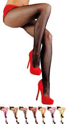 Damen Netzstrumpfhose Feinmaschig Fashion Fasching Party Show Tanz Kostüm