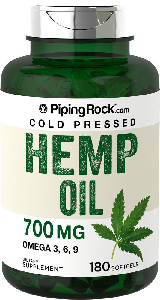 Piping Rock Hemp Seed Oil (Cold Pressed) 700 mg 180 Softgels