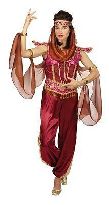 Orient Kostüm Damen rot Bauchtänzerin Bollywood Orientalisch Karneval Fasching