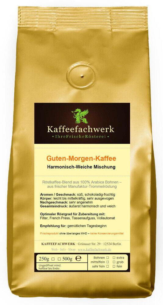 Kaffeefachwerk Guten-Morgen-Kaffee ♥ vollmundig-milder Kaffee Manufaktur-Röstung