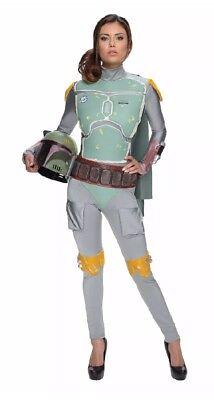 Star Wars Boba Fett Female BodySuit Costume Womens XS Bodycon](Female Boba Fett Costume)