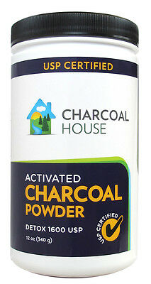 1QT Activated Charcoal Powder Detox 1600 USP Medicinal Coconut Shell Super Fine