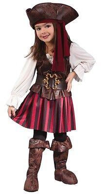 Piraten-Kostüm für Mädchen Gr. 104 - 3 bis 4 Jahre - Kinderkostüm Seeräuber