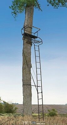 NEW 18' XL 2 Person Hunting Ladder Tree Stand w/ Seat Cushion + 2 Safety Harness 2 Person Ladder Stand