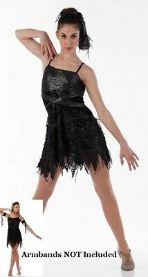 Witch Dance Costume (Possesion Dance Costume Biketard Tattered Witch Zombie Clearance Child &)