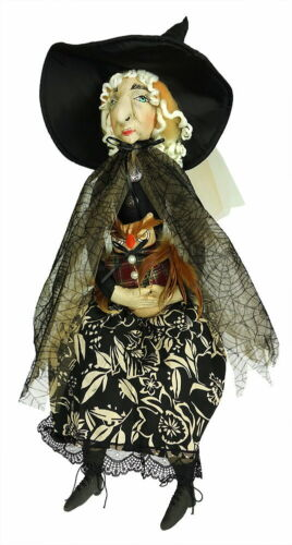 """Collectible Witch Doll ORMA by Joe Spencer Gathered Traditions 12"""" x 35"""""""