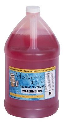 Motla Watermelon Snow Cone Syrup One Gallon