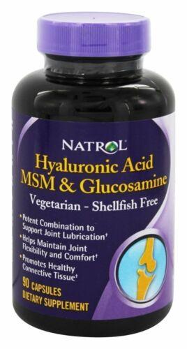 Natrol Vegetarian Hyaluronic Acid MSM and Glucosamine, 90 Ca
