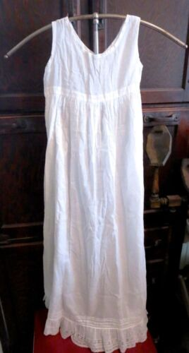 VICTORIAN HAND SEWN CHRISTENING GOWN CHICKEN FEET EMBROIDERY LACE TRIM