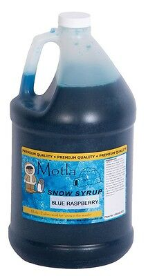 Motla Blue Raspberry Snow Cone Syrup One Gallon