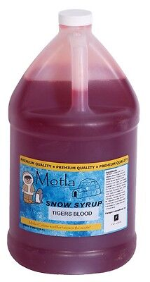 Motla Tigers Blood Snow Cone Syrup One Gallon