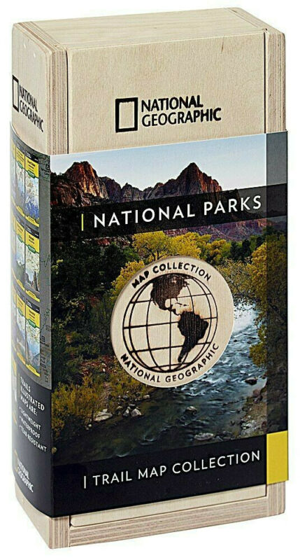 National Geographic National Parks Trail Maps Collector