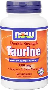 NOW Foods  Taurine 1000Mg, 100-Capsules [Health and Beauty]