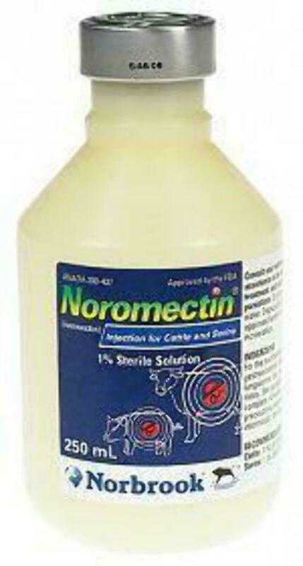 Noromectin Injection Control of  Parasites in Cattle & Swine 250 ML
