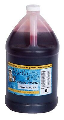 Motla Red Raspberry Snow Cone Syrup One Gallon