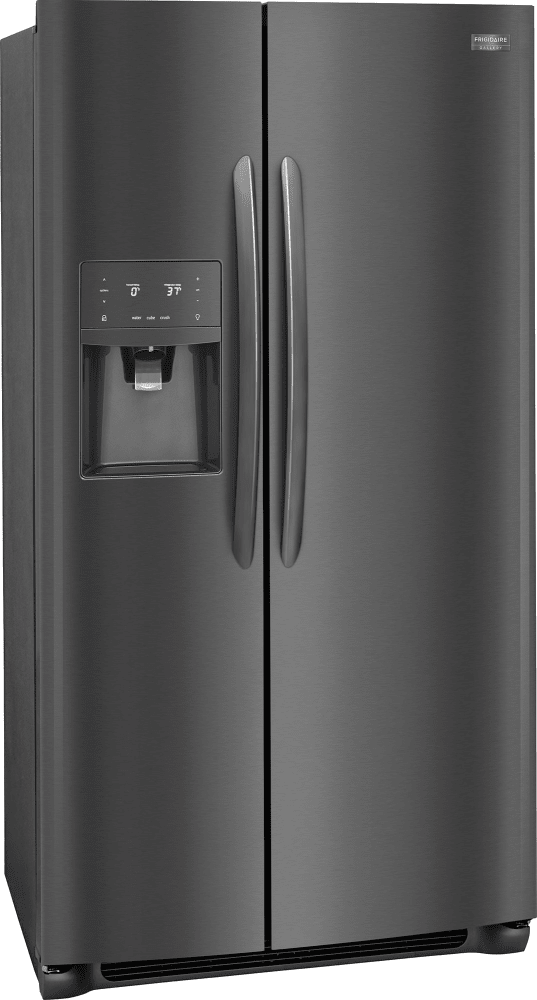 Frigidaire Gallery 25.6 Cu-Ft. Side Refrigerator in by Black Stainless Steel