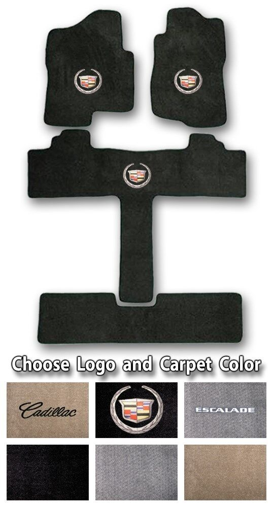 2002-2017 Cadillac Escalade Sport Carpet Floor Mats - Choice of Color & Logo Image