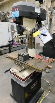 Jet 18 Jmd-18 Bench Top Millingdrilling Machine Wcs-18 Pedestal 150-3000 Rpm