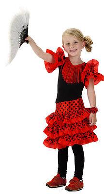 Kinder Kostüm Spanische Tänzerin Mädchenkostüm  Gr 104 110 116 122 128 134  (Spanische Tänzerin Kostüm)