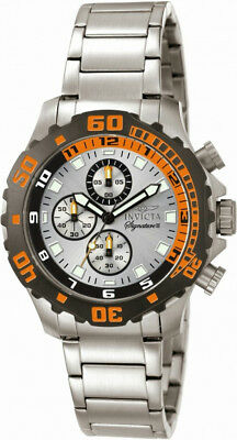 Invicta Signature II 7334 Men's Round Analog Silver Tone Stainless Steel Watch