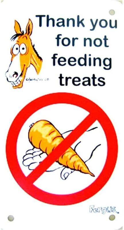 """Fergus Stall Sign - """"Do Not Feed"""""""