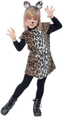 Katze Kätzchen Leopard Kleid Kinder Karneval Fasching Kostüm 98-128 ()