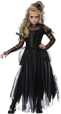 Spooky Creepy Ghastly Dark Princess Sorceress Halloween Costume Child Girls