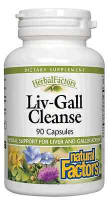 Liv Gall Cleanse  Liver  Gall Bladder  Natural Factors 90 Caps