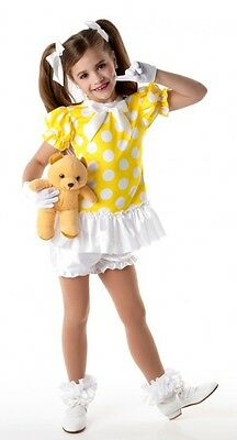 Babydoll Clara Dance Costume Top & Bloomers & Gloves PJs Polka Dot Child Large