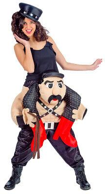 Rocker Huckepack Kostüm Damen Lustiges XL Fun Spaßkostüm - Lustige Kostüme Damen