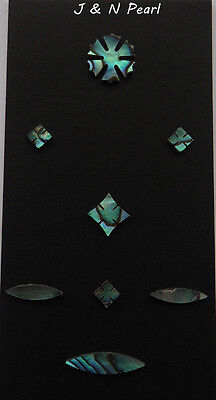 Paua Abalone 42 Snowflake Inlay Set for Martin Style Guitar Fingerboard,8pcs/set - Inlay Abalone Fingerboard