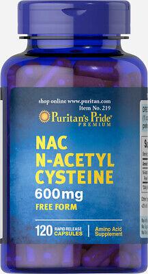 Puritan's Pride N-Acetyl Cysteine (NAC) 600 mg 120 Rapid