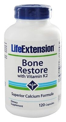Life Extension Bone - THREE BOTTLES $15 Life Extension Bone Restore K2 Calcium Magnesium D3 NON GMO