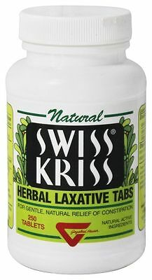 Modern Products Swiss Kriss Tabs 250 Tablets Constipation Relief