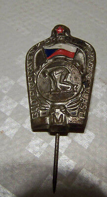Tschecheslowakei Abzeichen Anstecknadel Sei bereit für Arbeit und Heimatschutz
