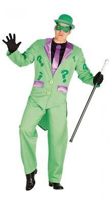 Riddler Herren Kostüm Jacket Hose Batman Gotham Superheld Superschurke Rätsel