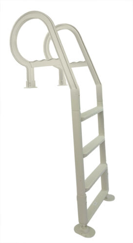 Heavy Duty Resin In-Pool Above Ground Swimming Pool Ladder-White Color