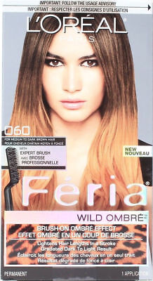 L'oreal Feria Wild Ombre Brush On Ombre Effect 060 For Medium To Dark Brown
