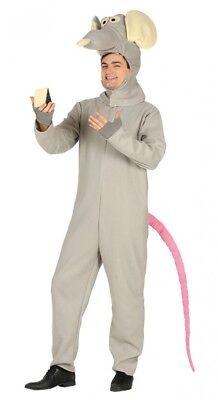 Lustiges Herren-Kostüm Ratte Ratatouille Erwachsene Overall JGA Karneval (Lustige Ratte Kostüm)