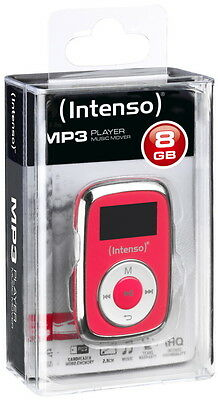 Intenso MP3 Player Music Mover 8GB 1 Zoll Display Clip Funktion pink