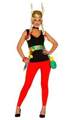 Gallierin Damen Kostüm inklusive Helm Gallier Hose Top Gürtel Comic - Sexy Comic Kostüm