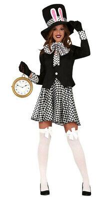 Verrückter Hutmacher Damen-Kostüm Alice Im Wunderland Märzhase Weißes - Alice Kaninchen Kostüm