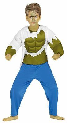 Kinder-Kostüm Hulk mit Muskeln grün Jungen Superheld Muskelkostüm - Grüne Superhelden Kostüm