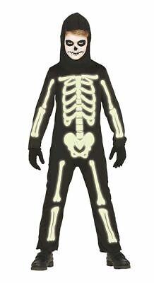Halloween Overall Skelett LEUCHTEND Kinderkostüm phosphoreszierend Kinder - Halloween Leuchtende Kostüm
