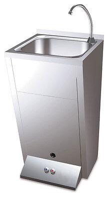 Standwaschbecken mit 2 Fussbedienung Waschbecken Verkaufsstand Waschstation NEU