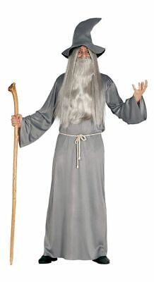 Gandalf Herren Kostüm graues Gewand Hut Gürtel Zauberer Hexer Magier - Herren Zauberer Kostüm
