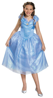 Cinderella Tween Costume Disguise Disney Blue Dress Girls Teen Halloween L 10-12