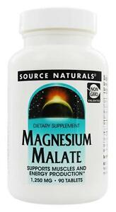Source Naturals Magnesium Malate 1250 mg 90 Tablets Malic Acid